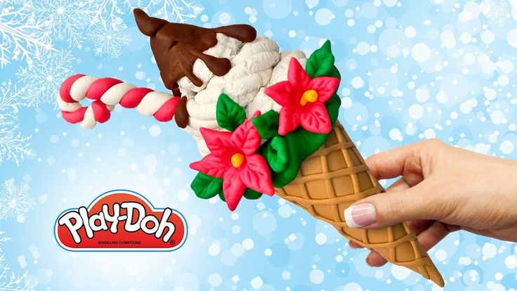 Learn Colors Play Doh Surprise Christmas Ice Cream Cone How to make Toy ...