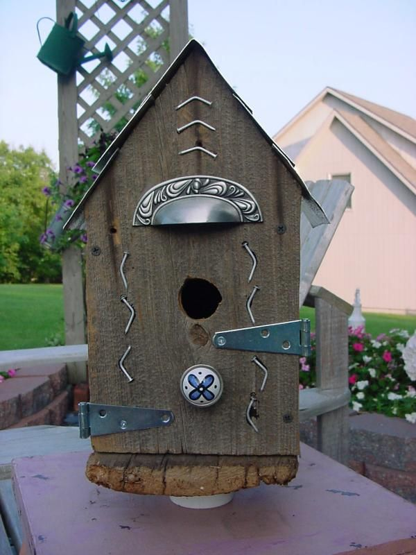 recycled materials on birdhouse 98 best Ideas