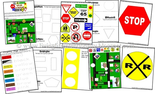 Traffic Signs {FREE} Preschool Pack, great for Mike Mulligan {or Katy and the Big Snow!}