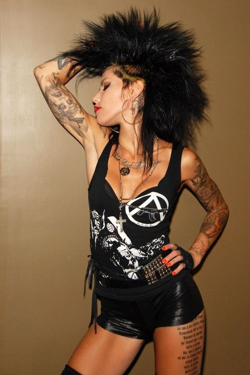 Punk style. This girl is so bad ass!