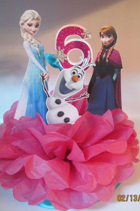 Elsa Anna Olaf party table centre piece
