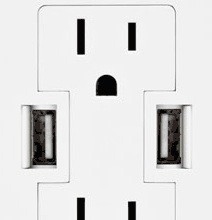 I'm looking forward to the day when electronic outlets have USB ports