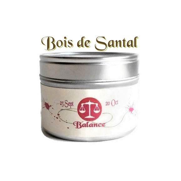 Bougie Parfumée Signe Zodiaque Balance au Bois de Santal Cire Végétale Candle Bougie Naturelle Bougie Personnalisée : Luminaires par bougies-et-cires-parfumees-dude