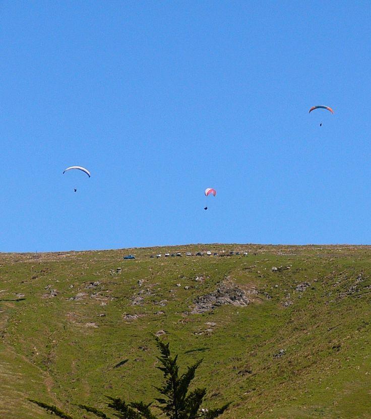 Air foils above the Sumner hills Canterbury NZ
