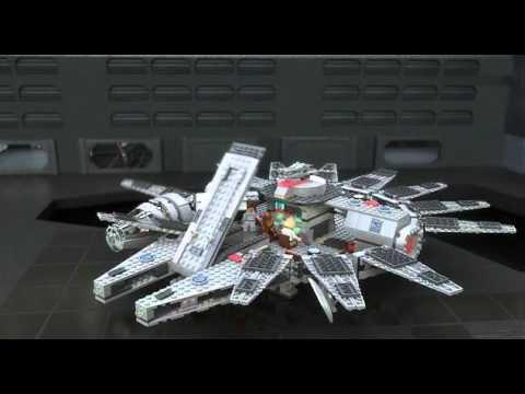 """Nave Espacial """"Halcón Milenario"""" de LEGO. La nave más veloz de la galaxia en opinión de Han Solo. http://pindroide.com/naves-y-transportes/nave-espacial-halcon-milenario-de-lego"""