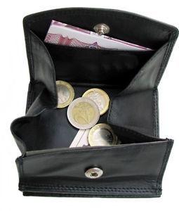 Geldbeutel-Wiener-Schachtel-Leder-Geldboerse-Portemonnaie-Schuettelboerse-Muenzb…