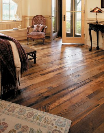 Reclaimed Barn Wood Flooring We Are Doing Something Similar In Our New  House   I Absolutely Love The Look Of It!living Room And Door To Outside