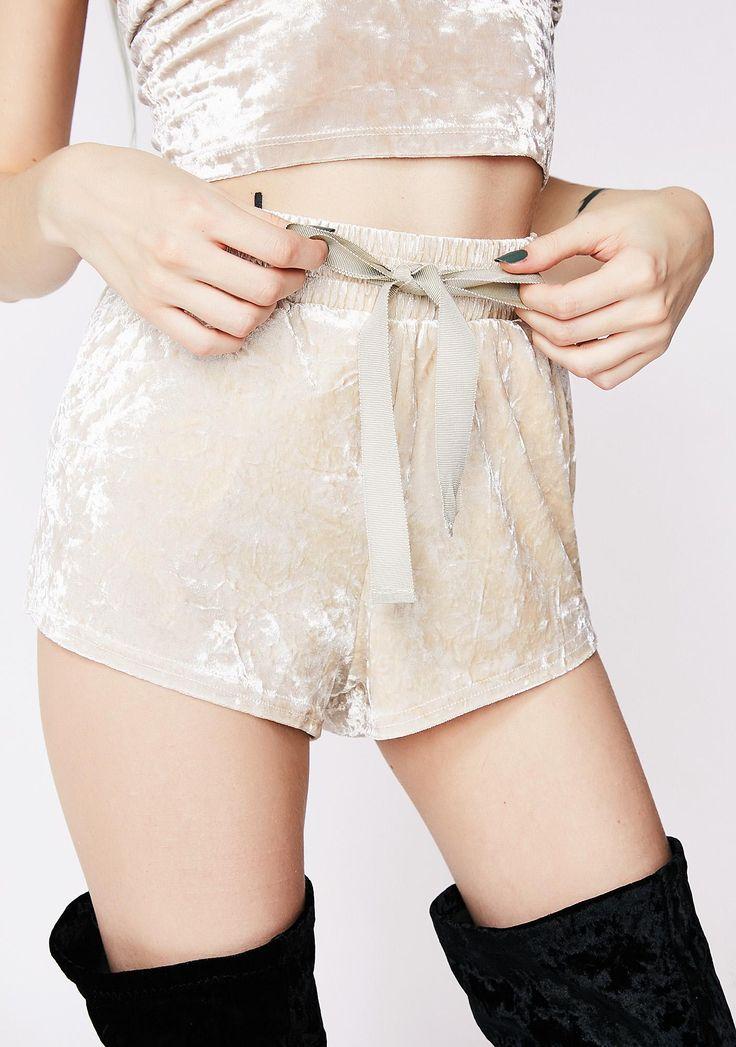 Velvet Cream Shorts | Dolls Kill