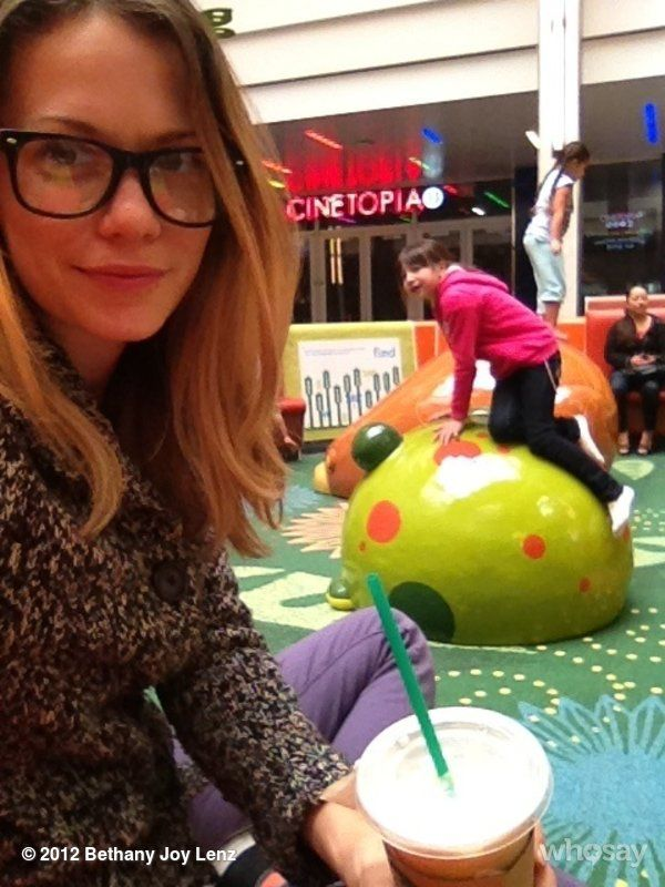 Bethany Joy Lenz on whosay: Just another #momfternoon at the mall.  This play area is genius.