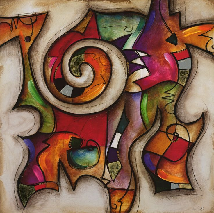 Swirl II by Eric Waugh - Canvas, Wood, Acrylic, Aluminium - ArtToCanvas