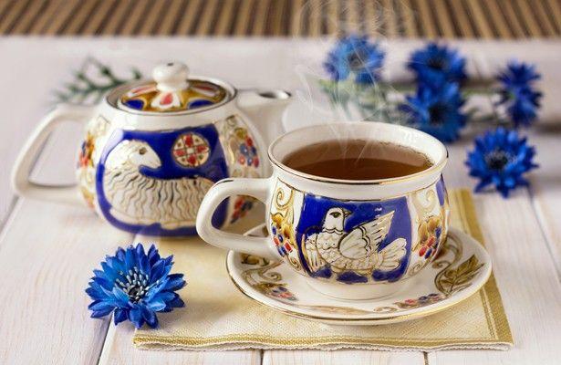 Byzantium handmade tea set,$45.00, catalog of St Elisabeth Convent. #Catalogofgoddeed #gift #ceramics #byzantium #teaset #teapot #glaze #relief #decoration #cup #buy #order