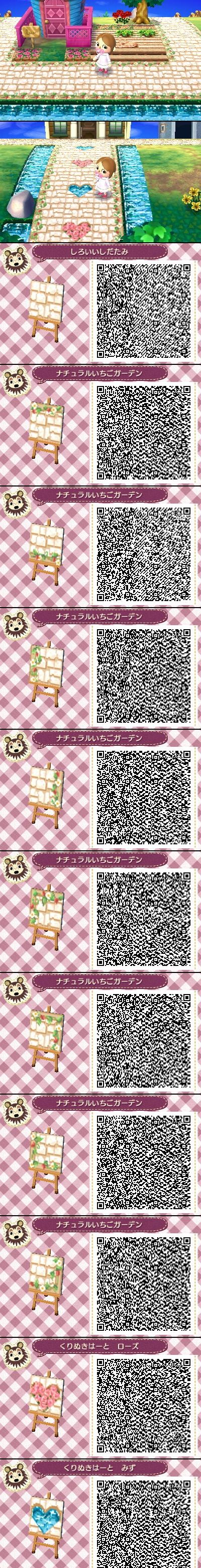 Rosy Pathstairs Animal Crossingnew Leaf Qr Codes T