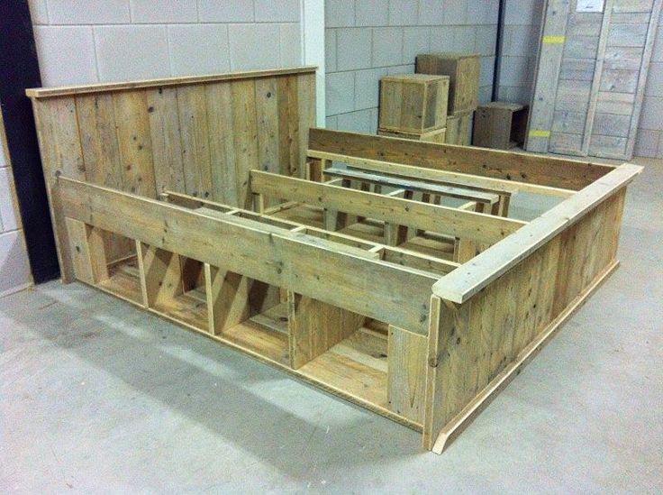 steigerhout bed Betuwe geschikt voor o.a.fruitkistjes