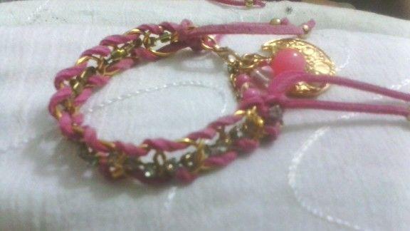 """""""Pink Stras Glamuor"""", Pulseras por: Vicky Rojas."""