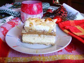 Kuchnia z widokiem na ogród: Ciasto na zimno na herbatnikach z masą krówkową i bitą śmietaną.