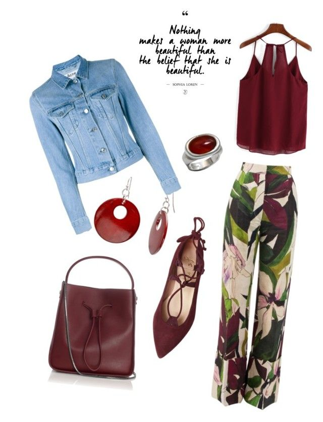 """""""Happily red"""" by syddeon on Polyvore featuring Erika Cavallini Semi-Couture, Mixit, Acne Studios, 3.1 Phillip Lim and Luke Goldsmith"""