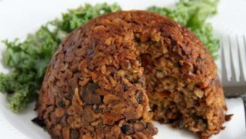 Vegan Haggis The Scottish Haggis made vegan with the combination of spiced veggies, lentils and wholegrains. It's savory, spicy, and much more healthier than the classic haggis, and there is no cruelty involved! Could it sound any better? You definitely have to give it a try!