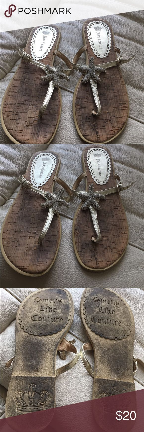 Juicy Couture Starfish Sandals Juicy Couture gold starfish sandals! Juicy Couture Shoes Sandals