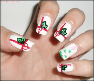 25 best christmas nails by crissies mind images on pinterest christmas notd day 2 under the mistletoe prinsesfo Image collections