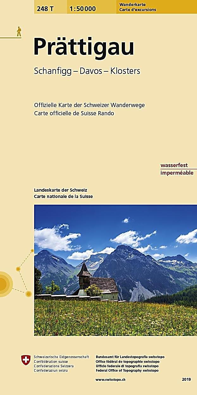 Landeskarte Der Schweiz Prattigau Karte Im Sinne Von Landkarte