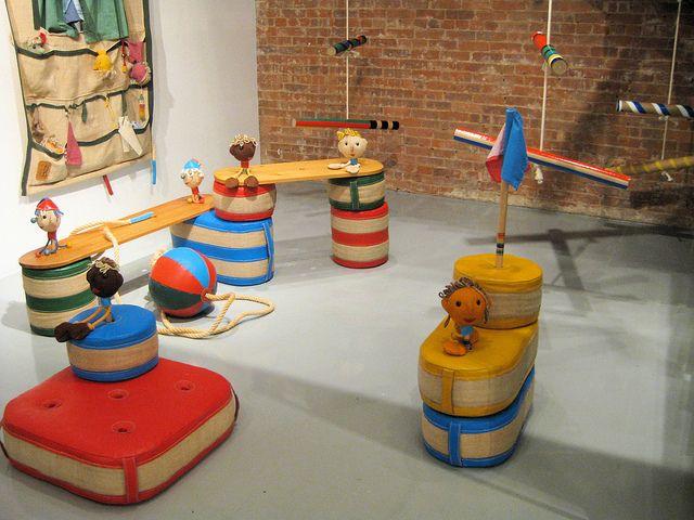 Renate Müller | playground set - mid century kids design