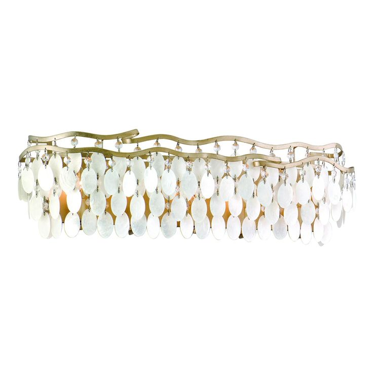 Corbett Lighting 109-65 5-Light Dolce Bathroom Light...this one is going in the bathroom in my studio..it's hard to tell, but it has shells and crystals...it is very fun and pretty!Bath Lights, Trav'Lin Lights, Capiz Shells, Corbett Lights, Wall Lights, Bathroom Lights, Dolce Capiz, Lights Dolce, Lights Bath