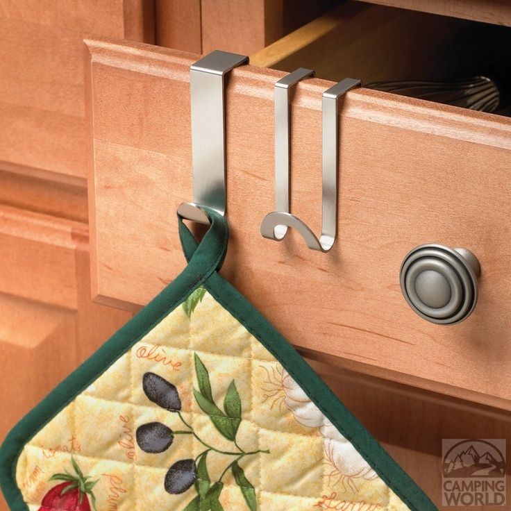 Over the Door Double Hook – Brushed Nickel - Spectrum Diversified Designs I 76671CWI - Space Savers - Camping World
