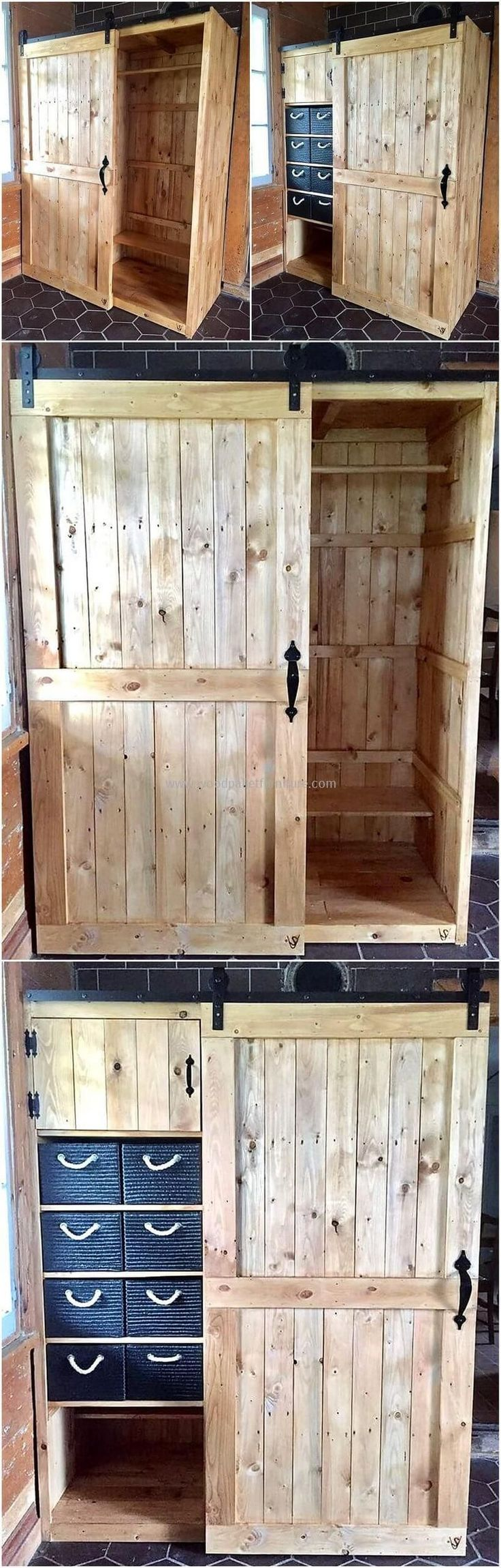 Get prepared! Here is the best time where you can create with some new, modern and unique wood pallets closet design with old shipping pallet of your place. It would be not wrong to say that upcycling the old and wasted material of your home into some appealing and exceptional closet design will always be #DIYHomeDecorPallets