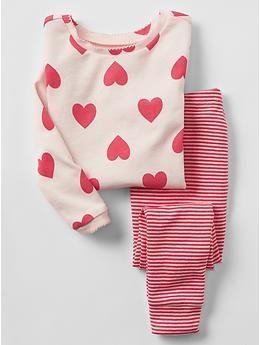 Hearts & stripes sleep set / GAP