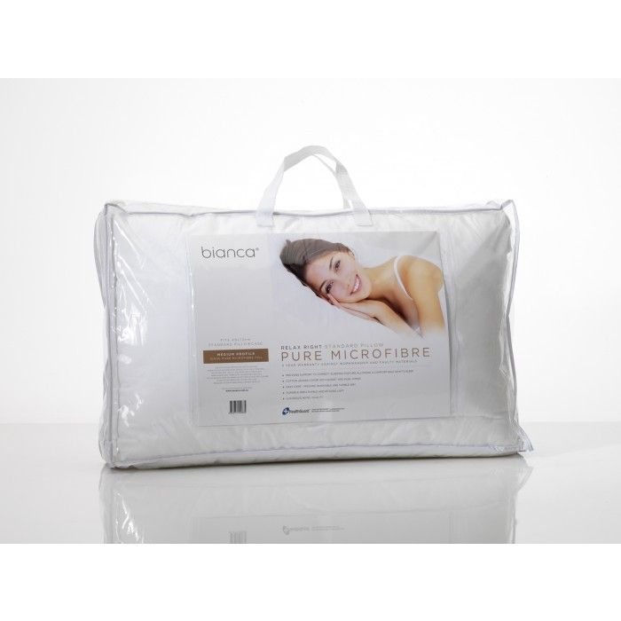 Relax Right Microfibre Pillow - Medium Profile by Bianca