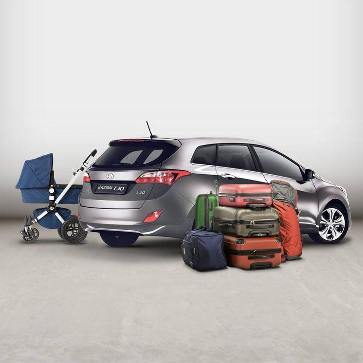 Hyundai i30 wagon reprezinta unul dintre cele mai spatioase modele din clasa sa, atunci cand vorbim despre capacitatea portbagajului. Ofera suficient spatiu pentru orice tip de vacanta.