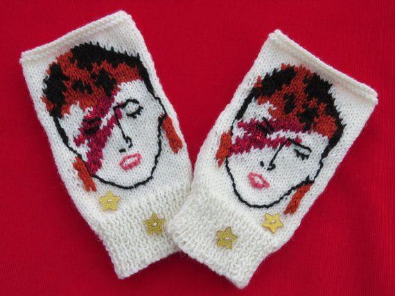 Knit David Bowie Ziggy Stardust Aladdin Sane by craftycrazyjackie
