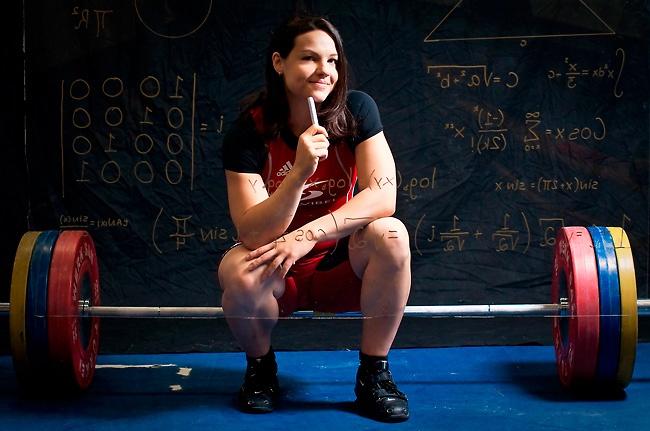 Christine Girard, médaillée olympiques en haltérophilie