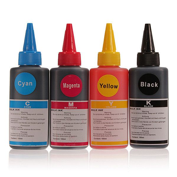 4Pcs 100ML Colorful Compatible Refill Ink for HP for Canon for Samsung for Lexmark for Epson for Dell for Brother Inkjet Printer
