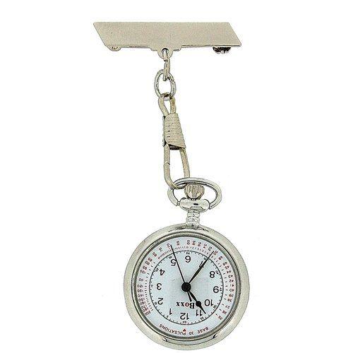 BOXX Unisex Hook Chain White Dial Professional Nurses Doctors Fob Watch Boxx201