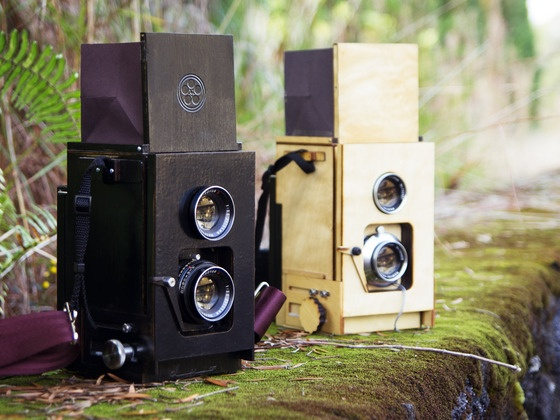 Duo: A DIY twin lens reflex camera for instant film by Kevin Kadooka, via Kickstarter.