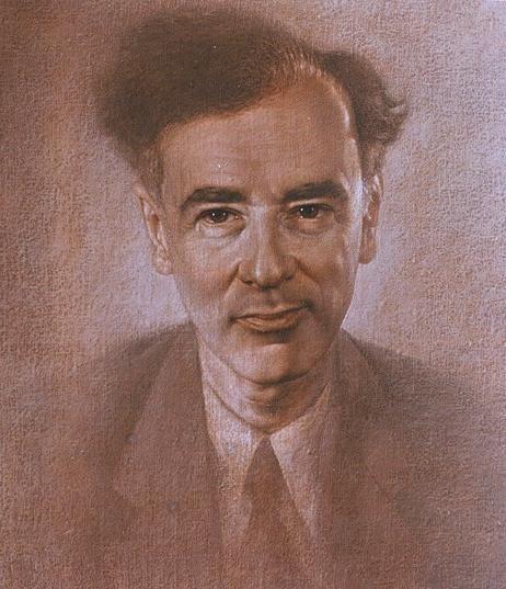 Academician Lev Landau by Mikhail Chapiro, 1983