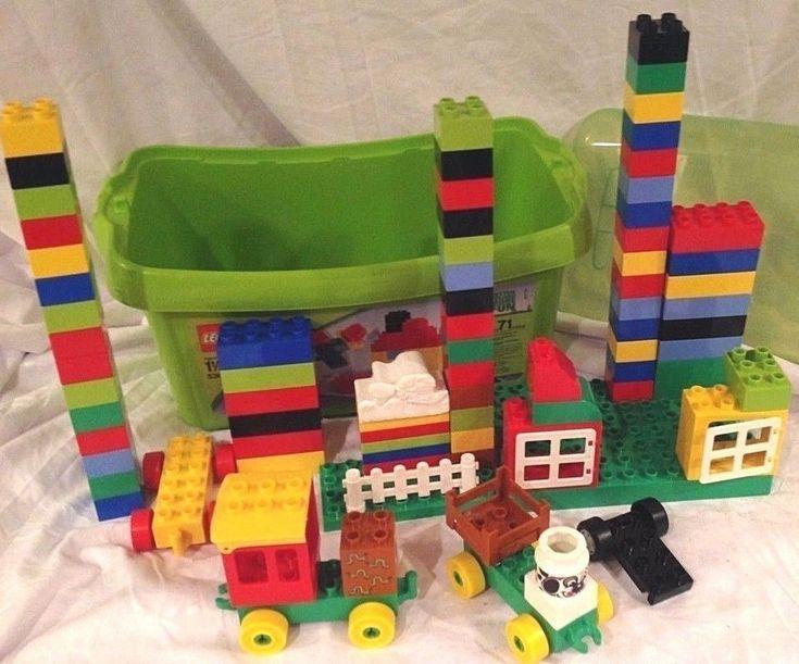 LEGO Duplo 81pc Large Brick, Figures and Storage Tub Box  #LEGO