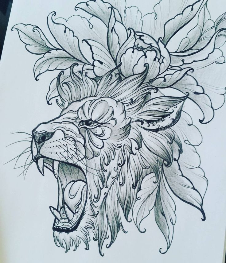 Second attempt at drawing a lion :) can't wait to tattoo this one #drawing…