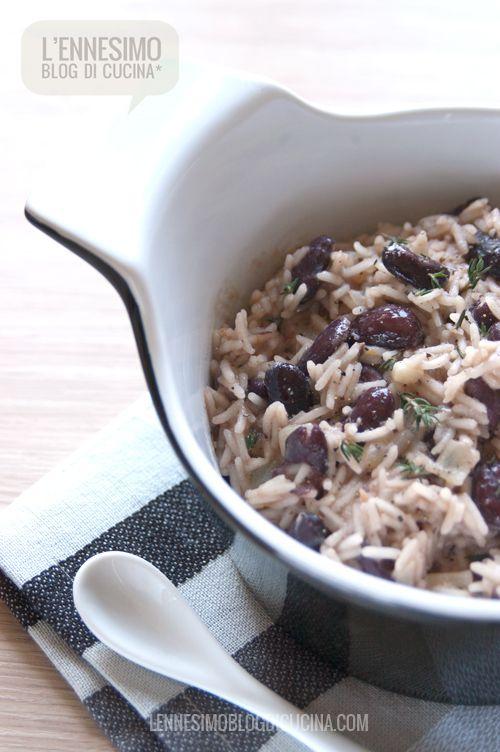 riso al cocco e fagioli rossi alla giamaicana (jamaican coconut rice and beans) © lennesimoblog