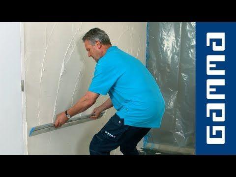 Zelf stucen: muur stucen - YouTube