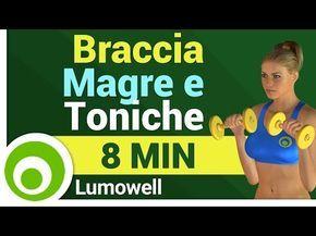 Esercizi per Dimagrire e Tonificare le Braccia Velocemente - Allenamento a Casa di 8 Minuti - YouTube