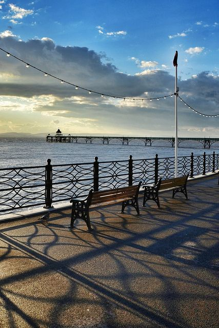Clevedon Pier, Somerset, England. Our tips for 25 fun things to do in England: http://www.europealacarte.co.uk/blog/2011/08/18/what-to-do-england/