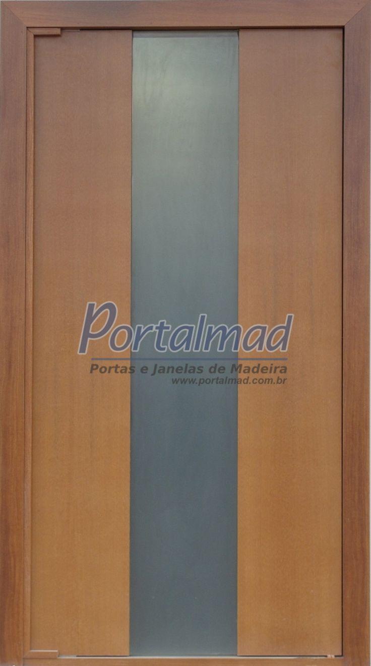 Porta de Entrada - Madeira e Vidro - Portalmad