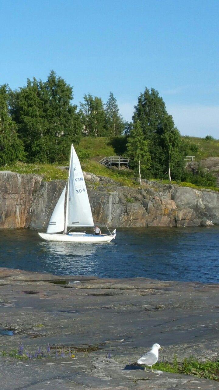 #Finland #Helsinki #boat #Bird #vene #meri #travel #matkailu #landscape