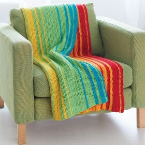 This easy crochet pattern looks like someone cut off a piece of the rainbow and brought it into your home. The Rainbow Glass Spectrum Afghan is one of the most refreshing patterns you'll ever see.