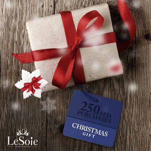 Our Christmas trees at our stores have some really good surprises for whoever get gifts worth of 250 AED from LeSoie products, go to the nearest one to you now! http://lesoie.com/find-the-shop/ شجرة الكريمساس الخاصة بنا هذا العام في جميع فروعنا تحمل هدية مميزة لمن يشتري هدايا بقيمة 250 درهم فقط, منتظرينكم في جميع فروعنا