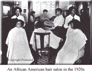 African American hair salon in the 1920s
