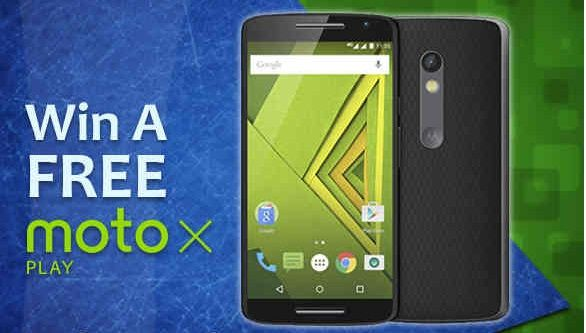 Enter this Giveaway to win a Moto X Play 32 GB smartphone.