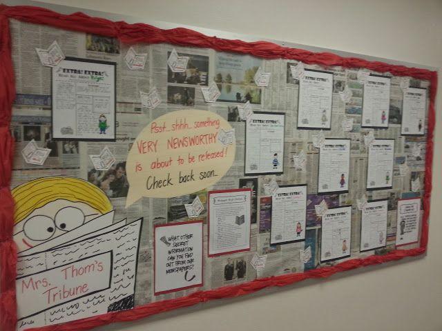 Classroom Newspaper Ideas ~ Best ideas about newspaper bulletin board on pinterest